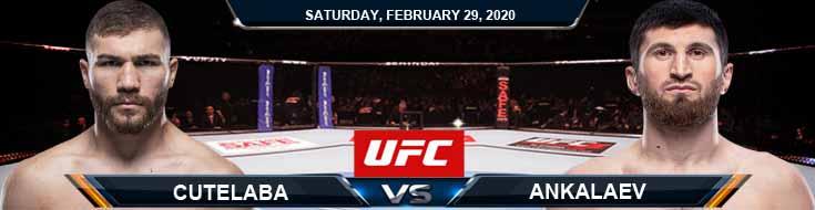UFC Fight Night 169 Cutelaba vs Ankalaev 2-29-2020 Betting Picks UFC Predictions and Previews