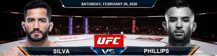 UFC Fight Night 169 Silva vs Phillips 2-29-2020 UFC Fight Analysis Odds and Picks