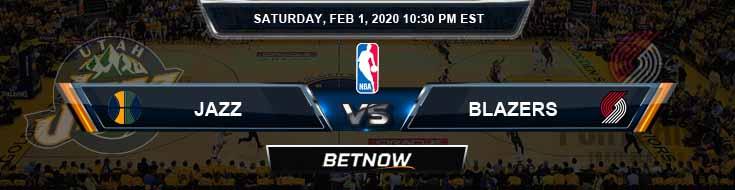 Utah Jazz vs Portland Trail Blazers 2-1-2020 Odds Picks and Previews