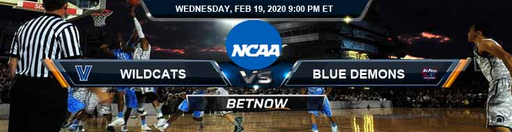 Villanova Wildcats vs DePaul Blue Demons 2-19-2020 NCAAB Predictions Game Analysis and Betting Picks