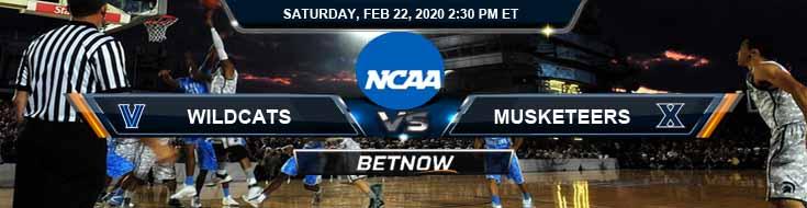Villanova Wildcats vs Xavier Musketeers 2-22-2020 Odds Predictions and Spread