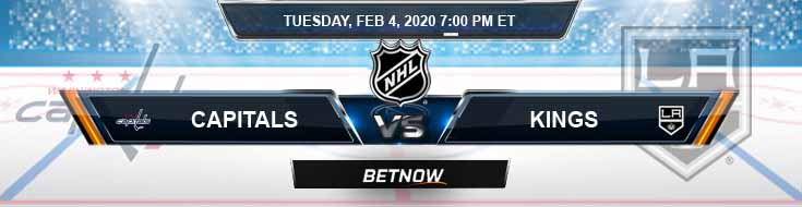 Washington Capitals vs Los Angeles Kings 02-04-2020 Picks NHL Predictions and Betting Odds