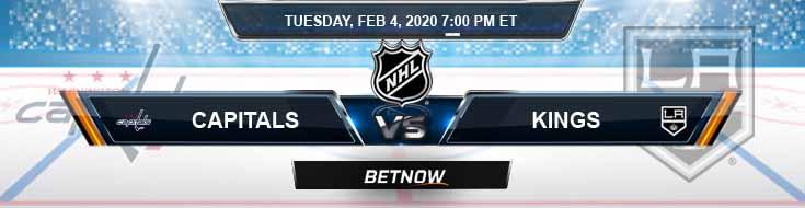 Washington Capitals vs Los Angeles Kings 02-04-2020 Picks NHL Predictions and Betting Odds