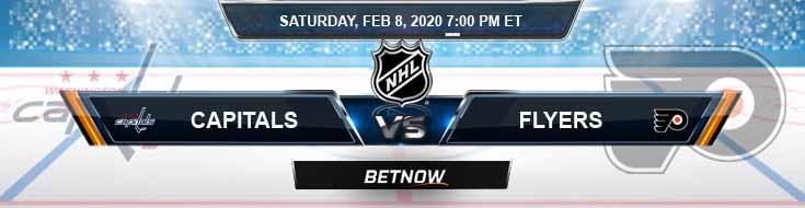 Washington Capitals vs Philadelphia Flyers 02-08-2020 NHL Picks Preview and Spread