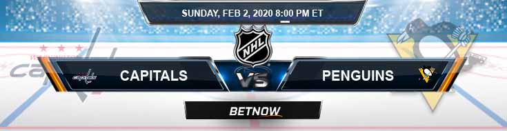 Washington Capitals vs Pittsburgh Penguins 02-02-2020 NHL Picks Betting Odds and Predictions