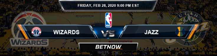 Washington Wizards vs Utah Jazz 2-28-2020 Spread Picks and Prediction