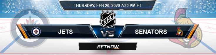 Winnipeg Jets vs Ottawa Senators 02-20-2020 Previews NHL Odds and Betting Picks