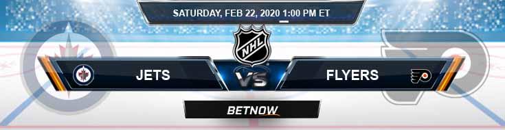Winnipeg Jets vs Philadelphia Flyers 02-22-2020 Picks Betting Spread and NHL Predictions