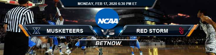 Xavier Musketeers vs St. John's Red Storm 2/17/2020 Odds, Picks and Predictions