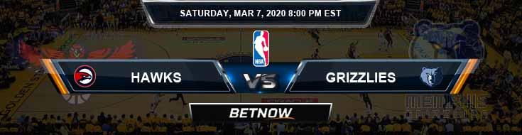 Atlanta Hawks vs Memphis Grizzlies 3-7-2020 Spread Picks and Previews