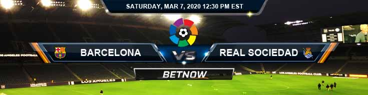 Barcelona vs Real Sociedad 03-07-2020 Betting Preview Game Analysis and Predictions