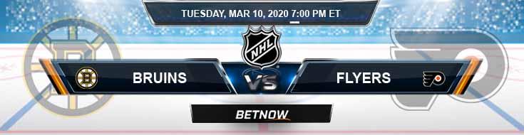 Boston Bruins vs Philadelphia Flyers 03-10-2020 Preview Predictions and Picks