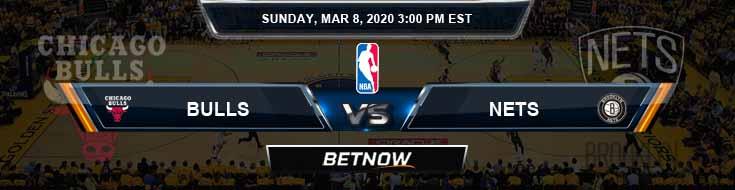 Chicago Bulls vs Brooklyn Nets 3-8-2020 Spread Picks and Prediction