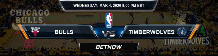 Chicago Bulls vs Minnesota Timberwolves 3-04-2020 NBA Picks and Previews