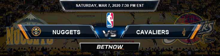 Denver Nuggets vs Cleveland Cavaliers 3-7-2020 Odds Picks and Previews