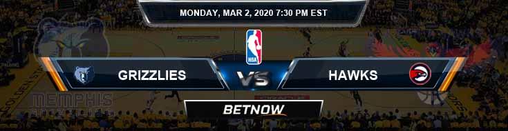 Memphis Grizzlies vs Atlanta Hawks 3-2-2020 Spread Picks and Prediction