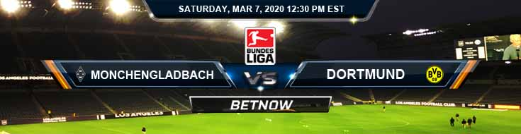 Monchengladbach vs Dortmund 03-07-2020 Soccer Odds Spread and Betting Picks