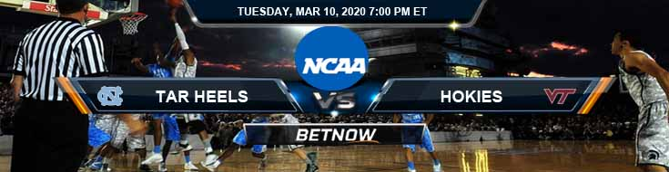 North Carolina Tar Heels vs Virginia Tech Hokies 3/10/2020 Game Analysis, Odds and Picks