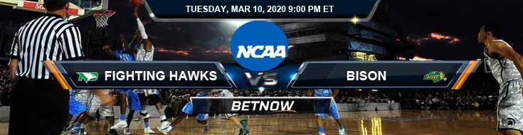 North Dakota Fighting Hawks vs North Dakota State Bison 3/10/2020 Odds, Picks and NCAAB Spread