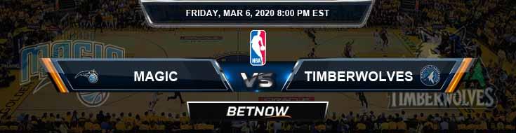 Orlando Magic vs Minnesota Timberwolves 3-6-2020 NBA Picks and Previews