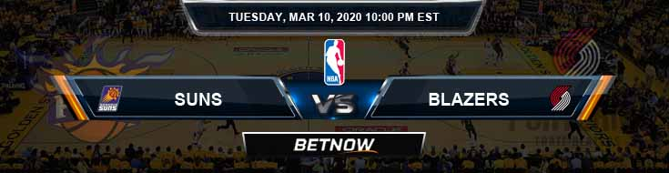 Phoenix Suns vs Portland Trail Blazers 3-10-2020 NBA Picks and Spread