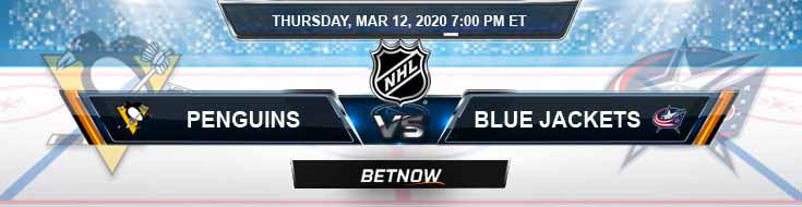 Pittsburgh Penguins vs Columbus Blue Jackets 03-12-2020 Betting Previews Game Analysis and Spread