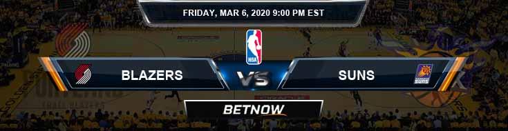 Portland Trail Blazers vs Phoenix Suns 3-6-2020 Odds Picks and Previews
