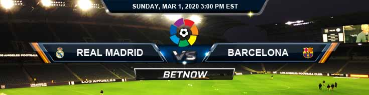 Real Madrid vs Barcelona 03-01-2020 Soccer Predictions Betting Odds and Preview