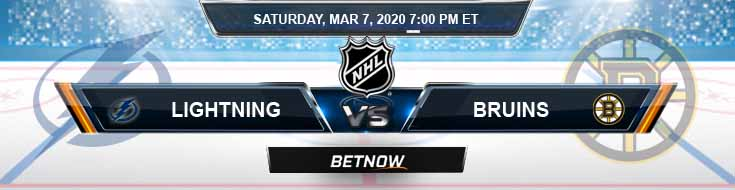 Tampa Bay Lightning vs Boston Bruins 03-07-2020 NHL Predictions Betting Odds and Game Analysis