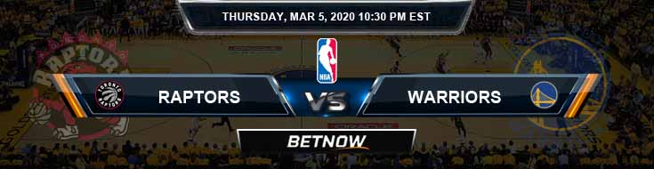 Toronto Raptors vs Golden State Warriors 3-5-2020 NBA Odds and Picks