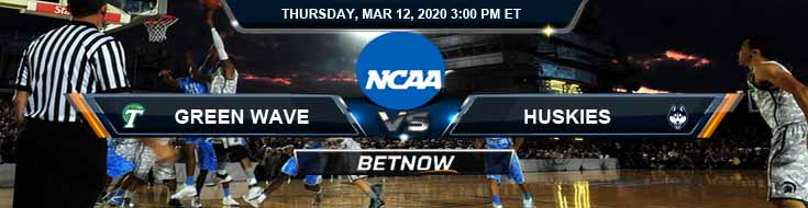Tulane Green Wave vs Connecticut Huskies 03/12/2020 Odds, Picks and NCAAB Spread