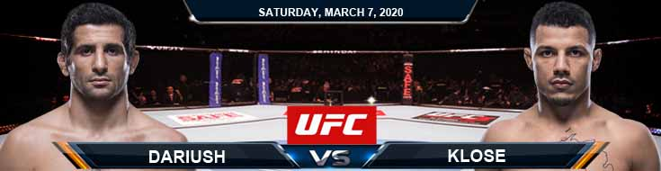 UFC 248 Beneil Dariush vs Drakkar Klose 03-07-2020 UFC Picks Betting Previews and Fight Analysis
