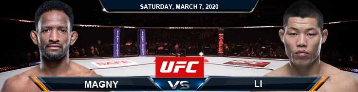 UFC 248 Neil Magny vs Jingliang Li 03-07-2020 Predictions UFC Spread and Odds