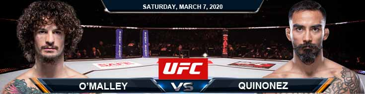 UFC Fight 248 Sean O'Malley vs Jose Quinonez 03-07-2020 Picks UFC Predictions and Preview