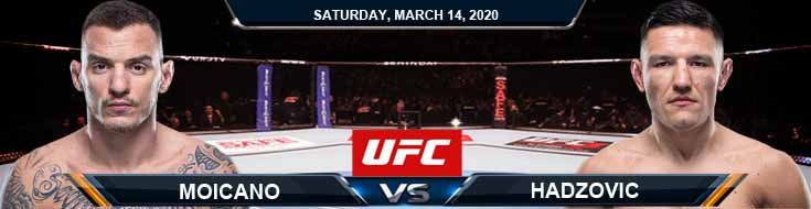 UFC Fight Night 170 Carneiro vs Hadzovic 03-14-2020 Betting Picks Predictions Previews