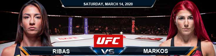UFC Fight Night 170 Ribas vs Markos 03-14-2020 Fight Analysis UFC Prediction and Betting Picks