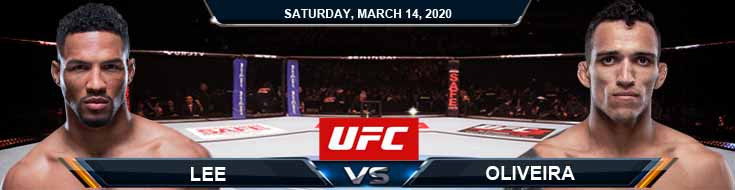 UFC Fight Night 171 Lee vs. Oliveira 03-14-2020 UFC Picks Predictions and Betting Previews