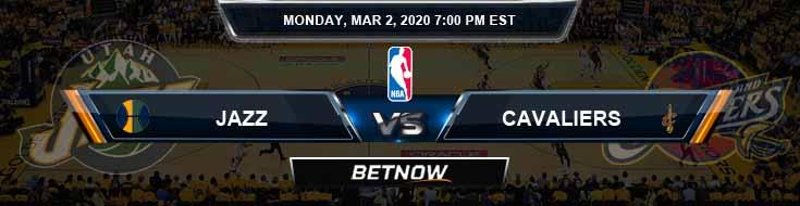 Utah Jazz vs Cleveland Cavaliers 3-2-2020 Spread Picks and Previews