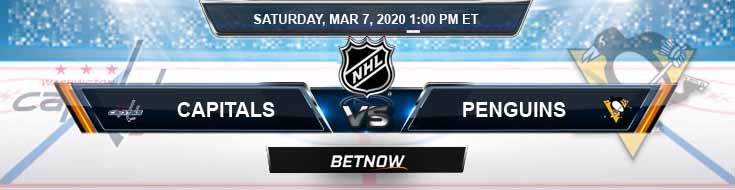 Washington Capitals vs Pittsburgh Penguins 03-07-2020 Picks NHL Predictions and Betting Spread