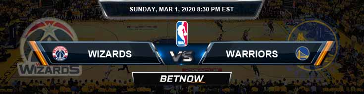 Washington Wizards vs Golden State Warriors 3-01-2020 NBA Odds and Picks