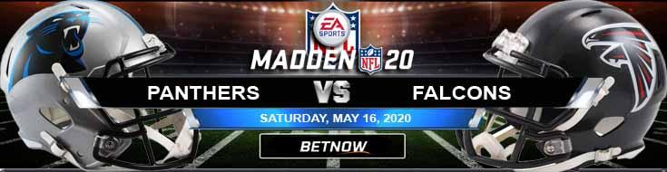 Carolina Panthers vs Atlanta Falcons 05-16-2020 NFL Madden20 Picks Betting Odds and Football Predictions