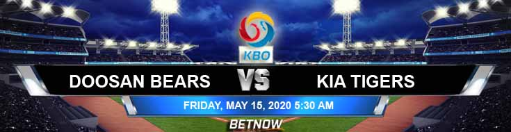 Doosan Bears vs KIA Tigers 05-15-2020 Baseball Betting Predictions Game Analysis and KBO Previews