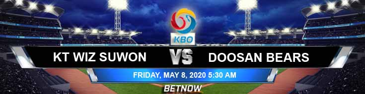 Doosan Bears vs KT Wiz Suwon 05-08-2020 KBO Baseball Betting Results Spread and Forecasts