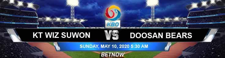 Doosan Bears vs KT Wiz Suwon 05-10-2020 KBO Tips Results and Baseball Betting Picks