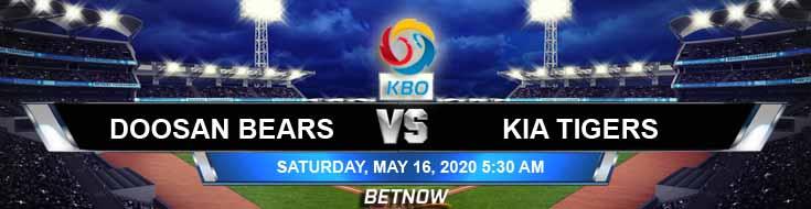 Doosan Bears vs Kia Tigers 05-16-2020 KBO Odds Betting Picks and Baseball Analysis