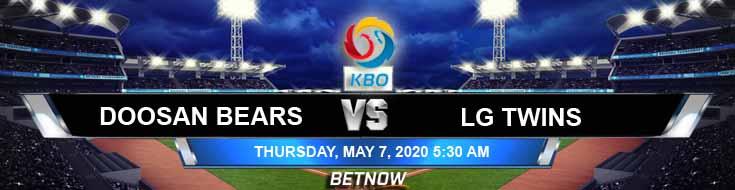 Doosan Bears vs LG Twins 05-07-2020 KBO Baseball Betting Picks Predictions and Previews
