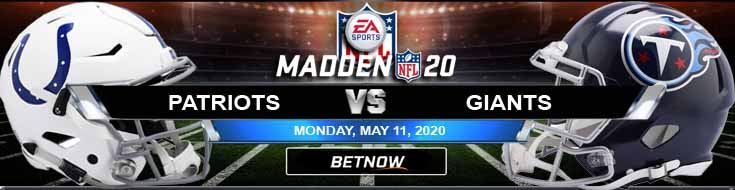 Indianapolis Colts vs Tennessee Titans 05-11-2020 Madden20 Forecast NFL Predictions and Picks