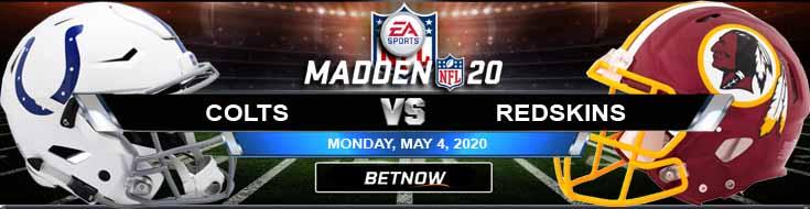 Indianapolis Colts vs Washington Redskins 05-04-2020 NFL Madden20 Picks Predictions and Previews