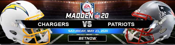 Los Angeles Chargers vs New England Patriots 05-23-2020 NFL Madden20 Picks Odds and Predictions