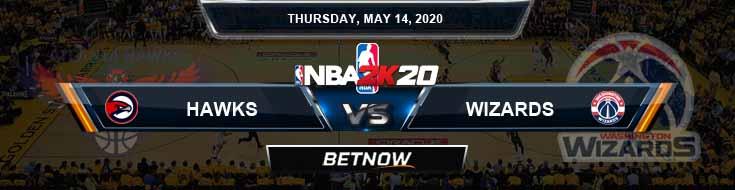 NBA 2k20 Sim Atlanta Hawks vs Washington Wizards 5-14-2020 NBA Odds and Picks